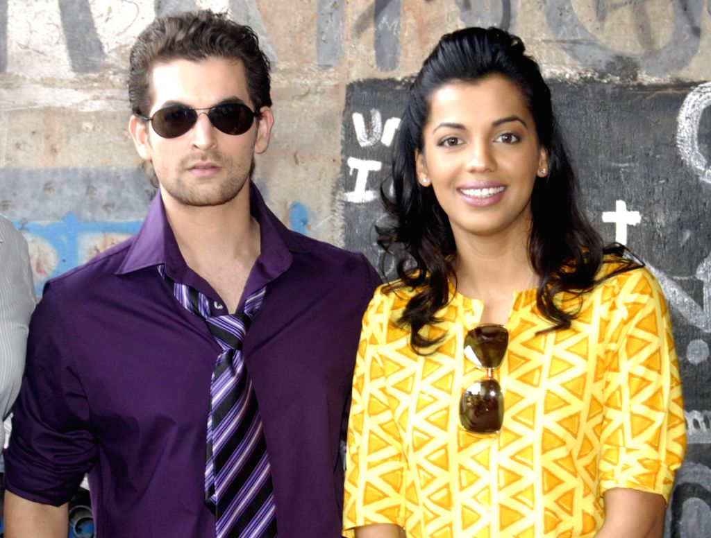 Percept Picture Company and Bhandarkar Entertainment's new venture Jail. the leads of the film Neil Nitin Mukesh and Mugdha Godse during the Mahurat of their latest film, Jail.