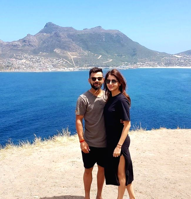 Perched on top of the Test Championship standings after pocketing a commanding 3-0 series whitewash against South Africa, a happy India skipper Virat Kohli was seen in holiday mood ahead of Diwali on ... - Virat Kohli and Anushka Sharma