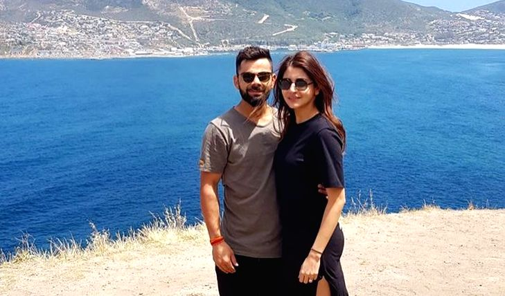 Perched on top of the Test Championship standings after pocketing a commanding 3-0 series whitewash against South Africa, a happy India skipper Virat Kohli was seen in holiday mood ahead of Diwali on Friday as he posted a picture with actress-wife An - Virat Kohli and Anushka Sharma