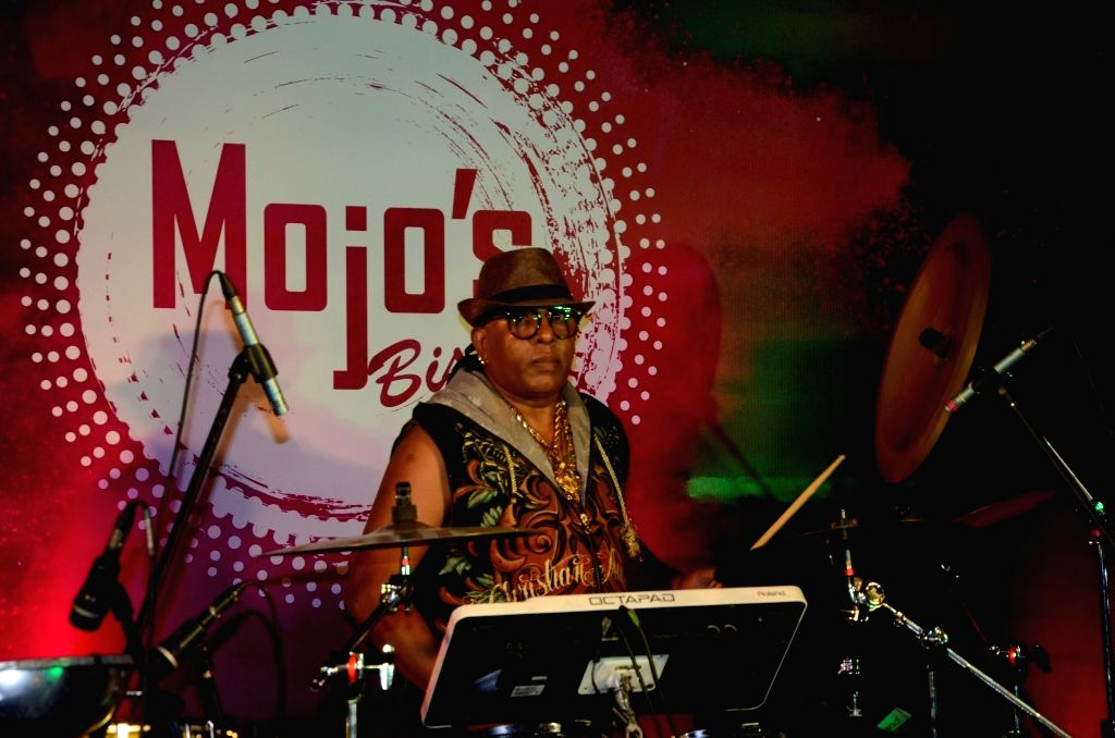 Percussionist Sivamani during a  programme in Mumbai, on July 7, 2017.