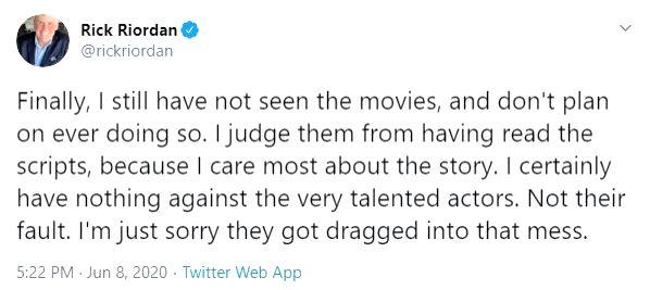 'Percy Jackson' author slams film versions.
