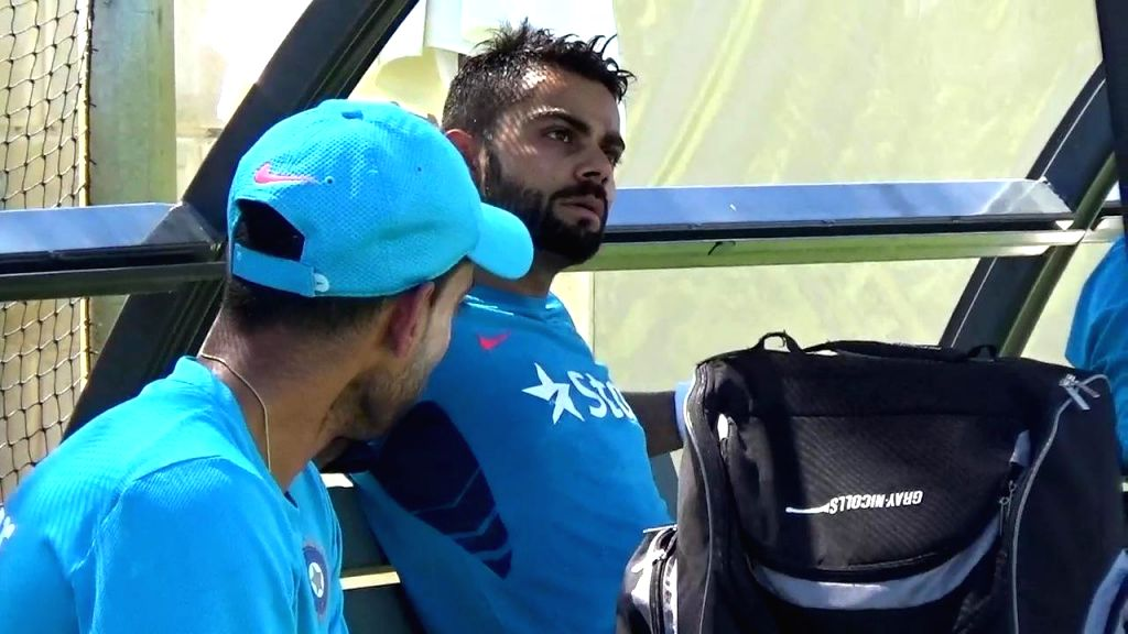 Indian cricketer Virat Kohli during a practice session ahead of a World Cup 2015 match against West Indies in Perth, Australia on March 5, 2015. - Virat Kohli