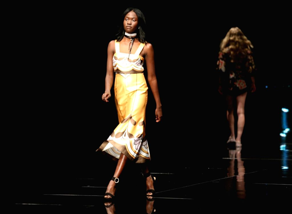 PERTH, Sept. 13, 2017 - Models present creations on the first day of the 19th international fashion festival in Perth, Australia, Sept. 12, 2017.