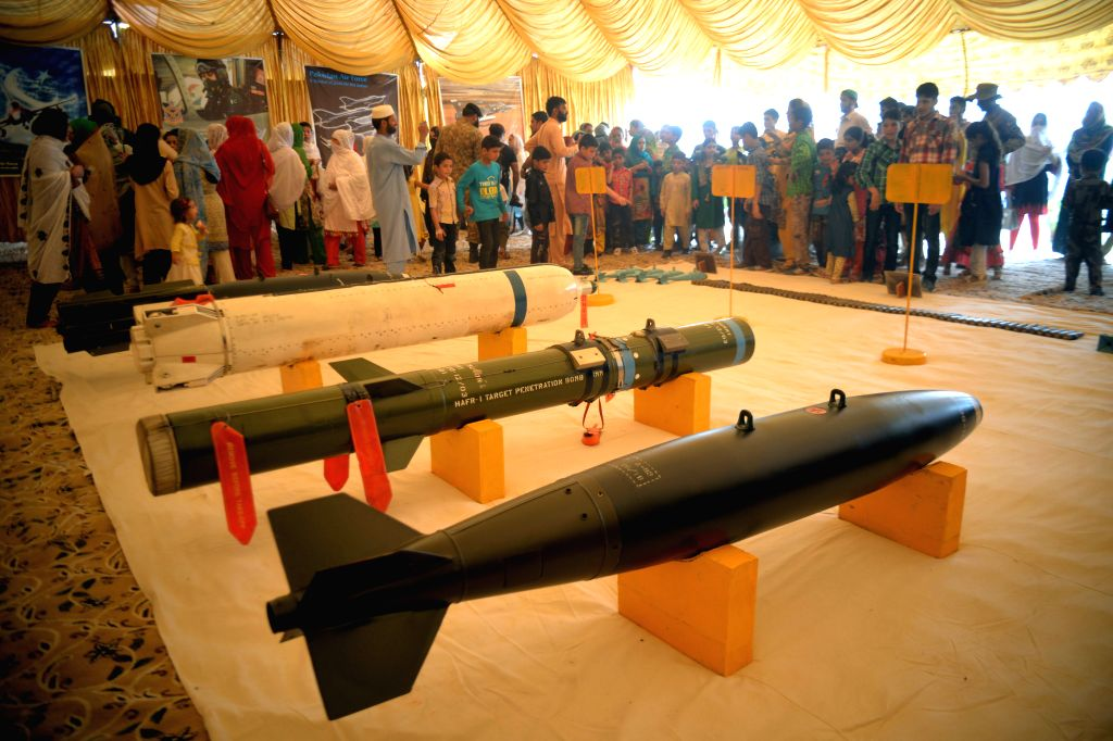 PESHAWAR (PAKISTAN), Sept. 6, 2019 Pakistani people visit an exhibition during an event to celebrate the Defense Day in Peshawar, Pakistan, on Sept. 6, 2019. Pakistan observed the ...