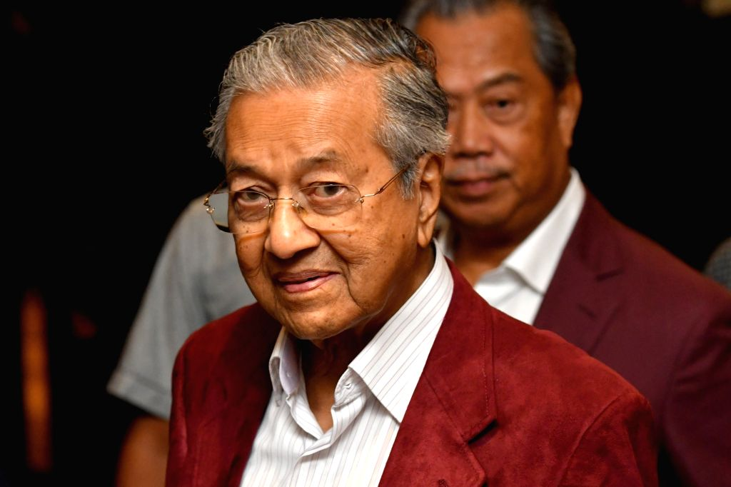 PETALING JAYA (MALAYSIA), May 10, 2018 (Xinhua) -- Malaysian former Prime Minister Mahathir Mohamad, who is leading the opposition alliance, attends a press conference in Petaling Jaya, Selangor, Malaysia, May 10, 2018. Vote tally released by the Mal - Mahathir Mohamad