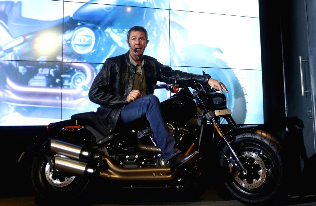 Peter Mackenzie MD (India and China ) Harley Davidson at motorcycle launch in New Delhi, on Oct 12, 2017.