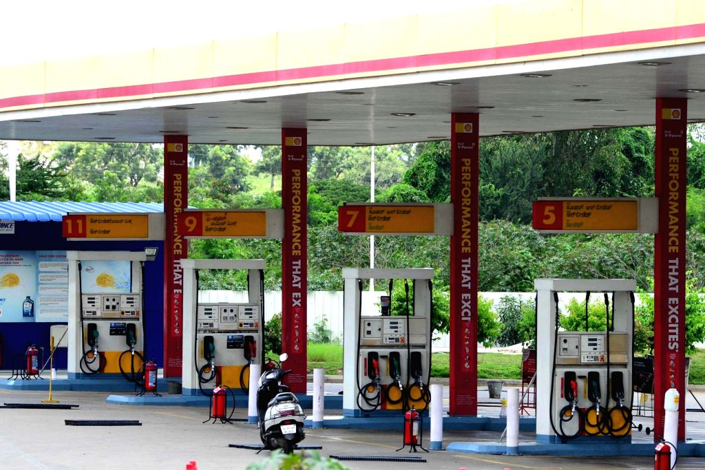 Petrol bunks in Bengaluru bear a deserted look during a complete lockdown that has been reimposed on Sundays from July 5 to August 2 across Karnataka to confine citizens at home and ...