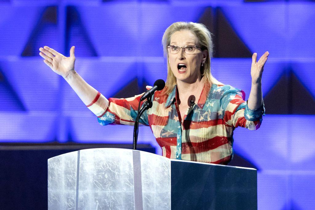 PHILADELPHIA, July 27, 2016 - Actress Meryl Streep speaks at the 2016 Democratic National Convention in Philadelphia, Pennsylvania, the United States on July 26, 2016. - Meryl Streep