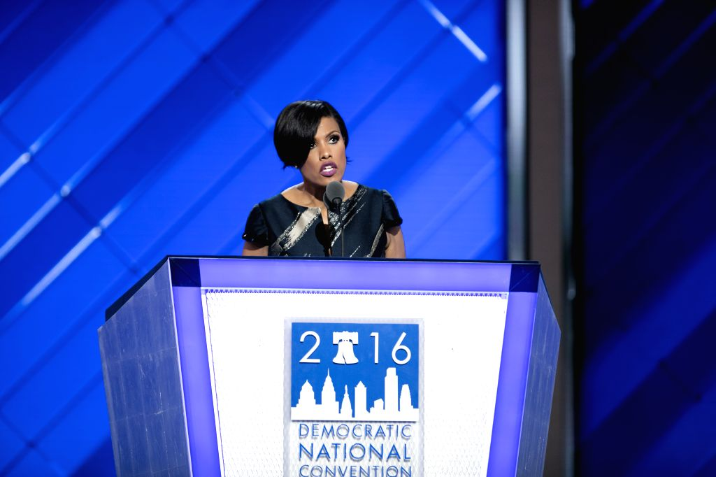 PHILADELPHIA, July 27, 2016 - Stephanie Rawlings-Blake, Baltimore mayor and Democratic National Convention (DNC) secretary, chairs the roll call on the second day of the 2016 U.S. Democratic National ...