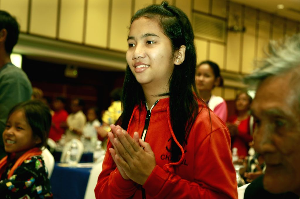 PHNOM PENH, July 15, 2019 - Sey Muoy attends a seminar on congenital heart defects in Phnom Penh, Cambodia, on July 15, 2019. Sey Muoy, a Cambodian teenager from northwestern Battambang province, has ...