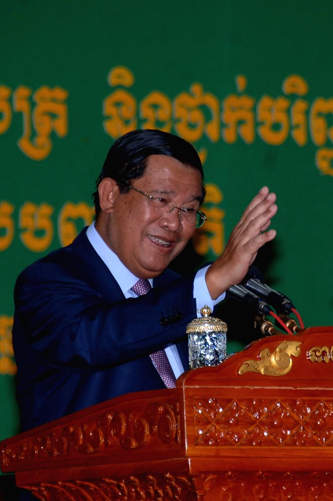 PHNOM PENH, Sept. 19, 2016 - Cambodian Prime Minister Samdech Techo Hun Sen speaks at the Panha Chiet University in Phnom Penh, Cambodia, Sept. 19, 2016. Hun Sen said Monday that the country has no ... - Samdech Techo Hun Sen