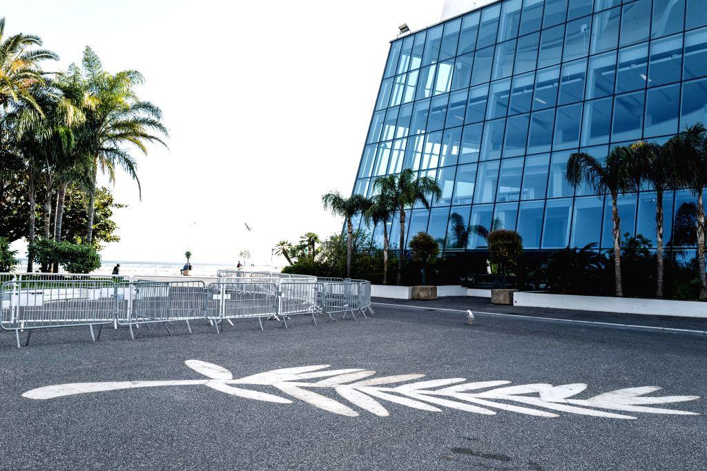 Photo taken on April 18, 2020 shows the empty Palais des Festivals in Cannes, France.