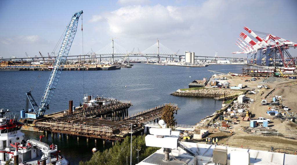 Photo taken on Jan. 22, 2020 shows a view of the Port of Long Beach, California, the United States. Looking ahead into 2020 and beyond, U.S. Port of Long Beach ...