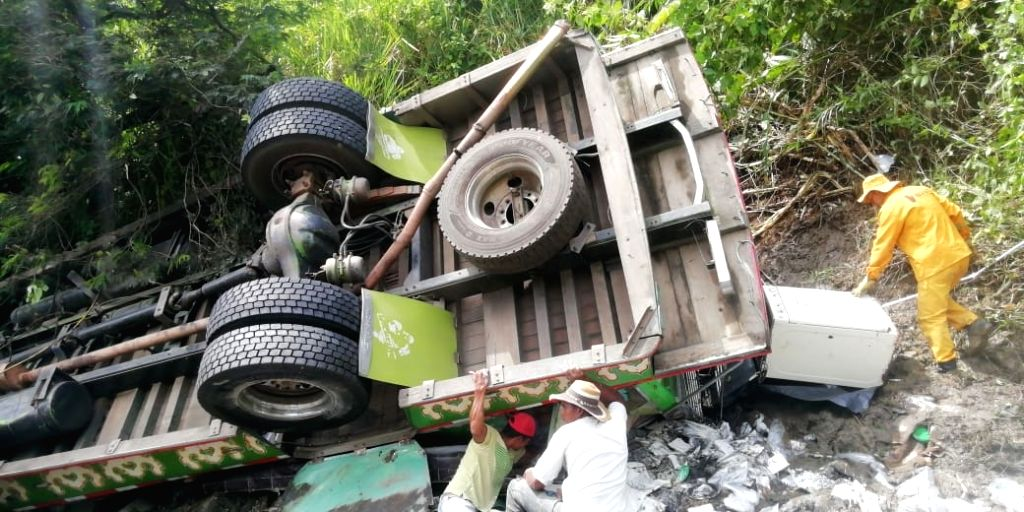 Photo taken on Jan. 24, 2020 shows the site of a bus accident near Rosas Town in the Cauca department, southwest Colombia. At least nine people died and many more ...