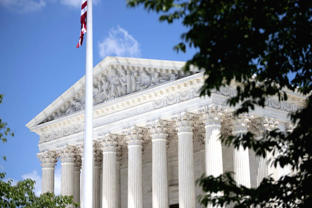 Photo taken on July 9, 2020 shows the U.S. Supreme Court Building in Washington, D.C., the United States. The U.S. Supreme Court on Thursday blocked for now the ...
