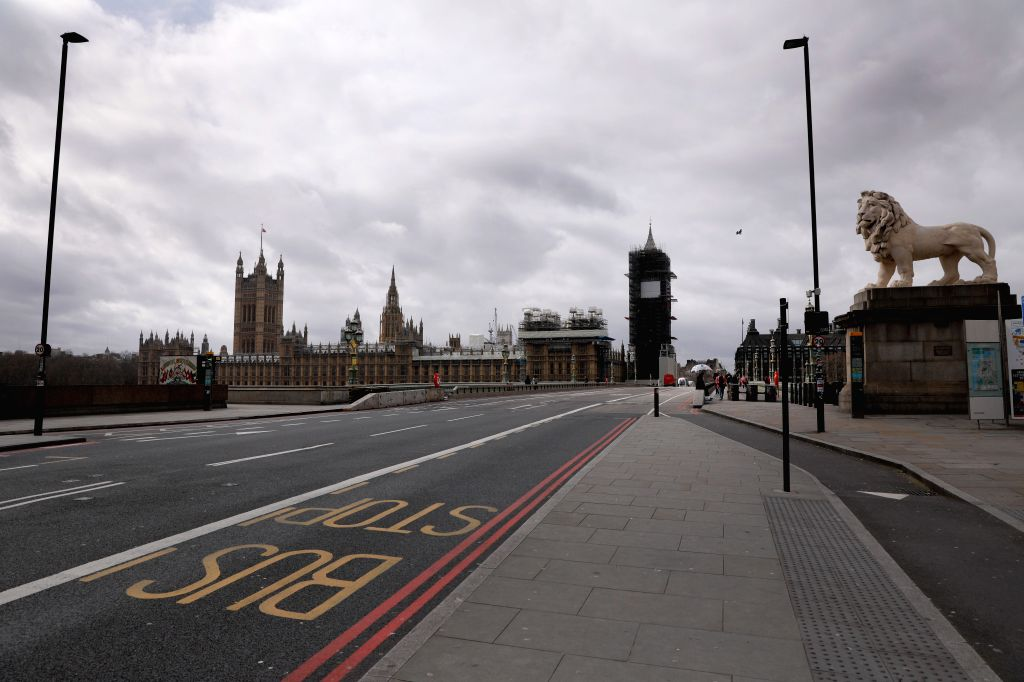 Photo taken on March 18, 2020 shows a general view of Westminster Bridge and the Houses of Parliament in London, Britain. British Prime Minister Boris Johnson said ... - Boris Johnson