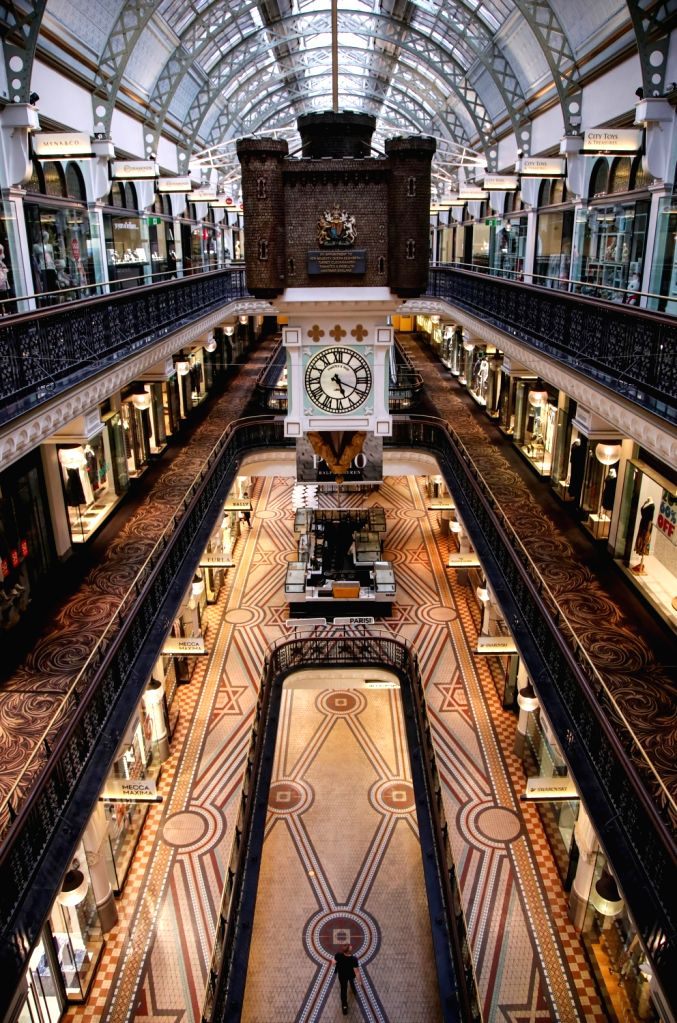 Photo taken on March 30, 2020 shows empty Queen Victoria Building in Sydney, Australia.   The COVID-19 outbreak in the Australian State of Victoria will likely delay ...