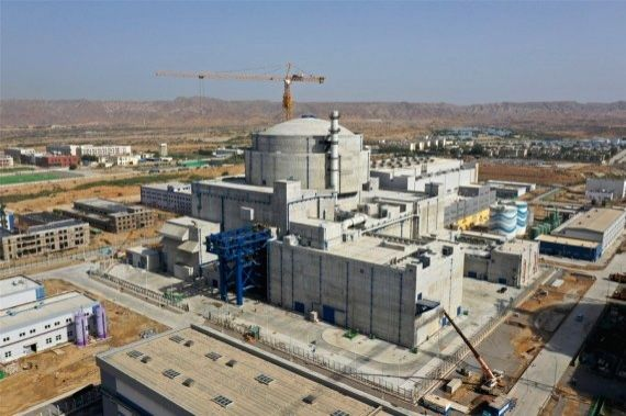 Photo taken on May 19, 2021 shows Karachi Nuclear Power Plant Unit-2 (K-2) in southern Pakistani port city of Karachi.