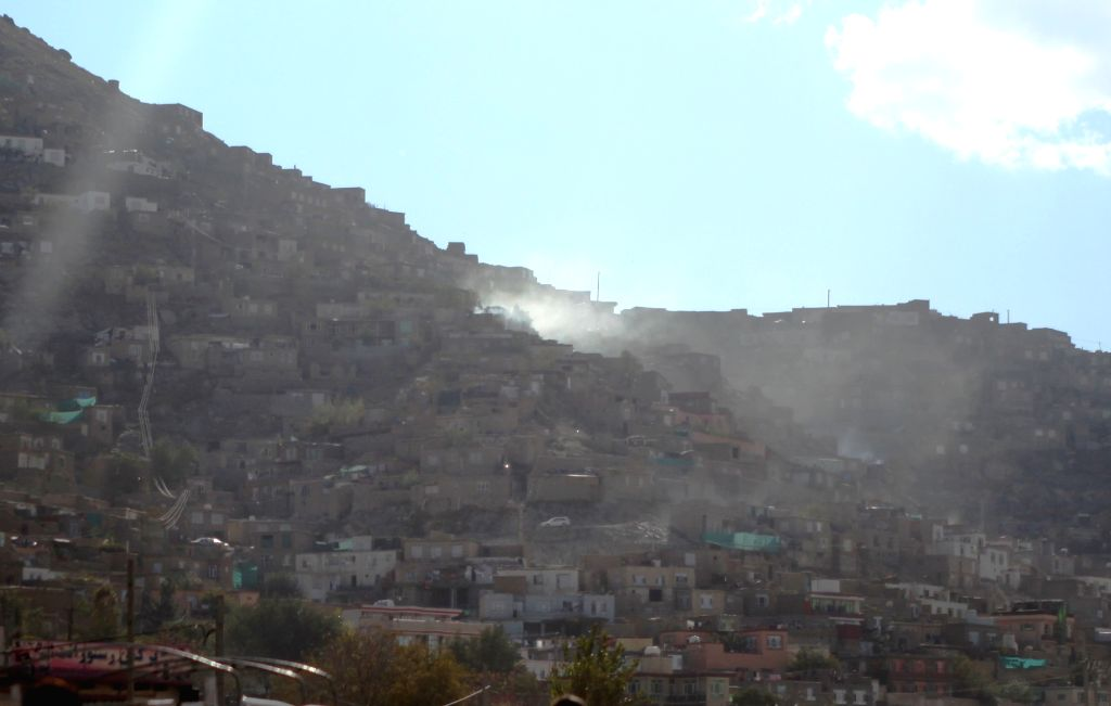 Photo taken on Oct. 26, 2015 shows the view after an earthquake in Kabul, capital of Afghanistan. At least 18 people have been confirmed dead and scores injured as a ...