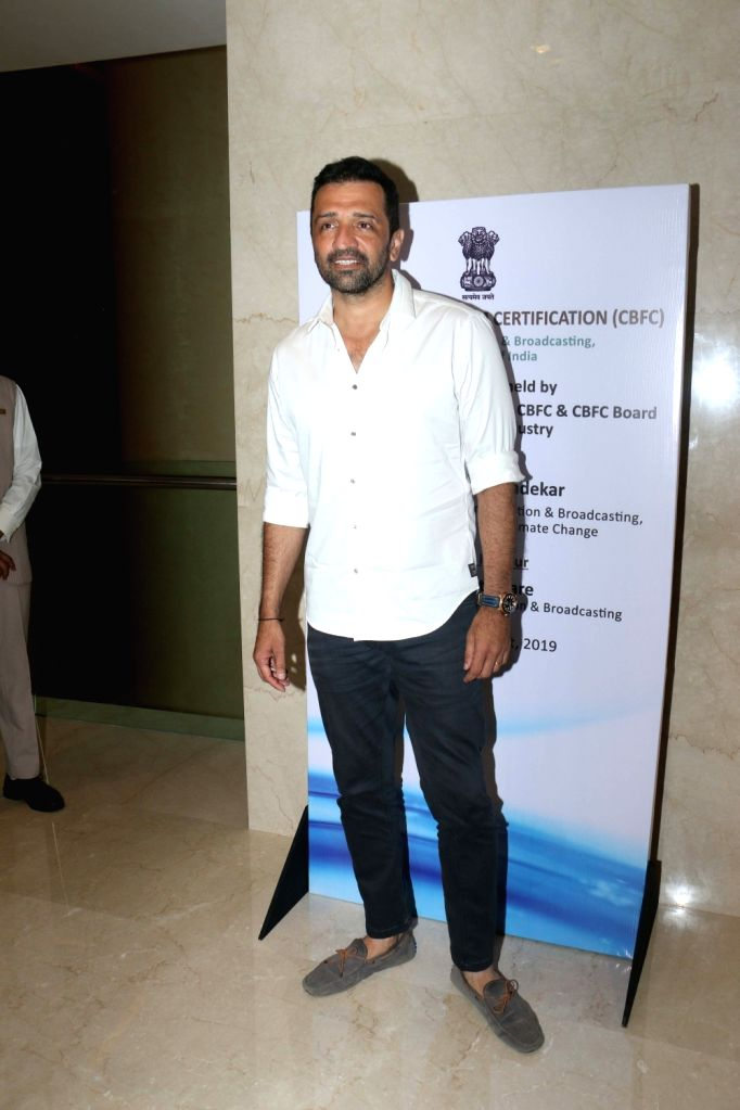 Photographer Atul Kasbekar during the launch of the new logo and certificate design of Central Board of Film Certification (CBFC) in Mumbai on Sept 1, 2019.
