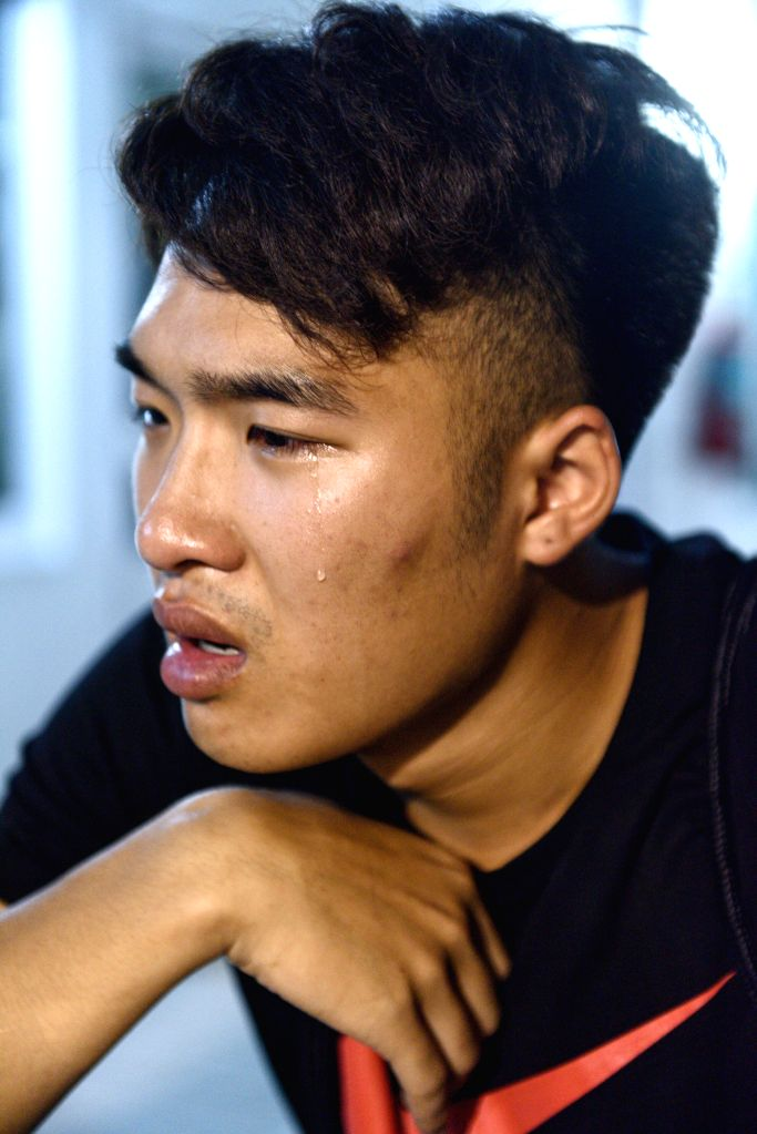 PHUKET, July 8, 2018 - Survived tourist Lin Hongzheng recalls his experience during the boats capsizing accident at a hospital on Phuket island, Thailand, July 7, 2018. At least 42 people were ...