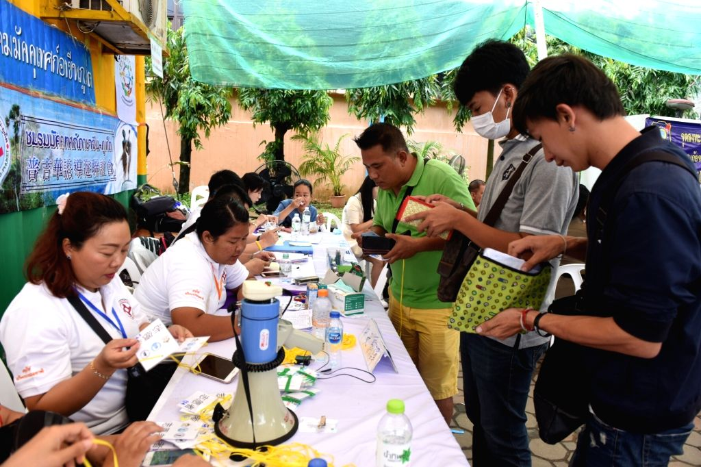 PHUKET, July 9, 2018 - Local guides register to be voulnteers in a hospital on Phuket island, Thailand, July 9, 2018. Many volunteers from both China and Thailand join the rescue work after two boats ...