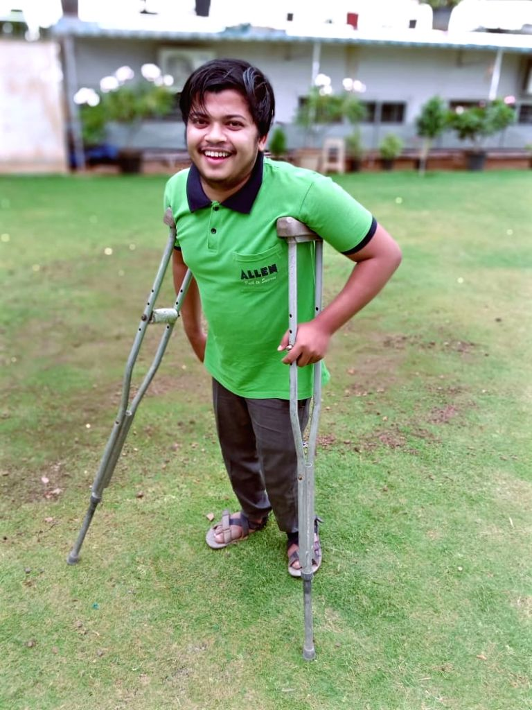 Physically challenged Sajan Rai from Bihar clears his NEET after taking coaching from Kota. - Sajan Rai