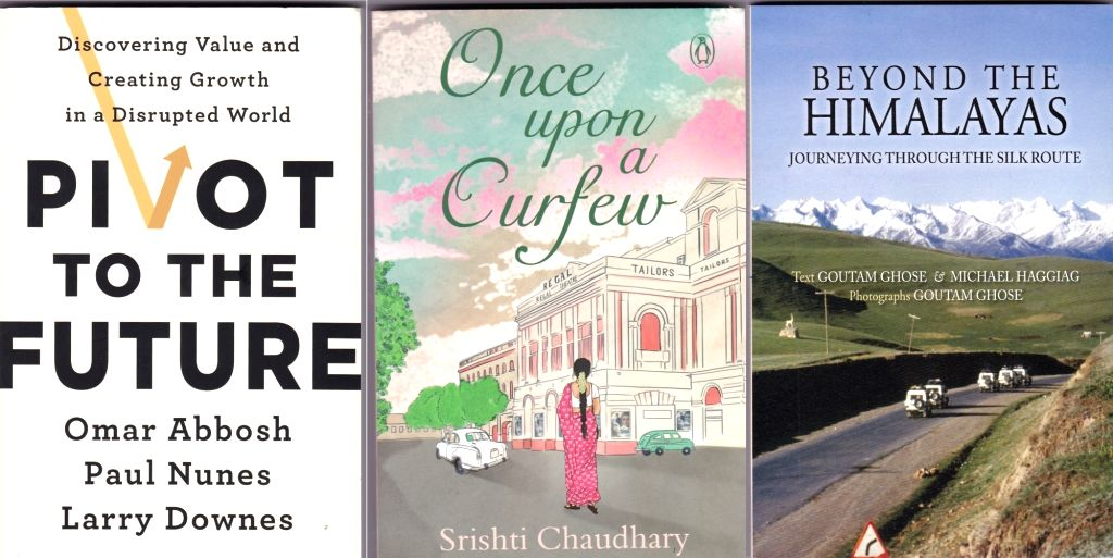 """Pivot to the future"" by Omar Abbosh, ""Once upon a Curfew"" by Srishti Chaudhary, Beyond the Himalayas. - Srishti Chaudhary"