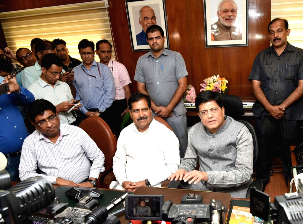 Piyush Goyal takes charge as the Union Minister for Railways, in New Delhi on May 31, 2019.
