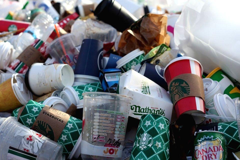 Plastic trash.