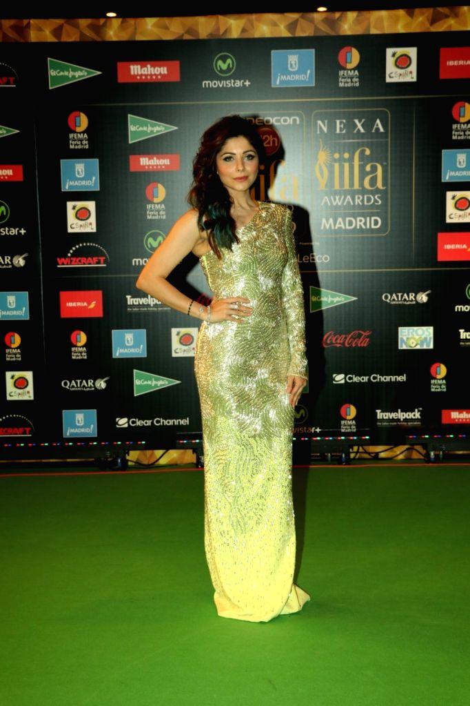 Playback Singer Kanika Kapoor  during IIFA Awards in Madrid on June 26, 2016. - Singer Kanika Kapoor