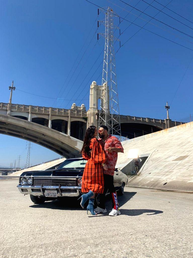 Playboy muse Rose Romero with rapper Badshah.