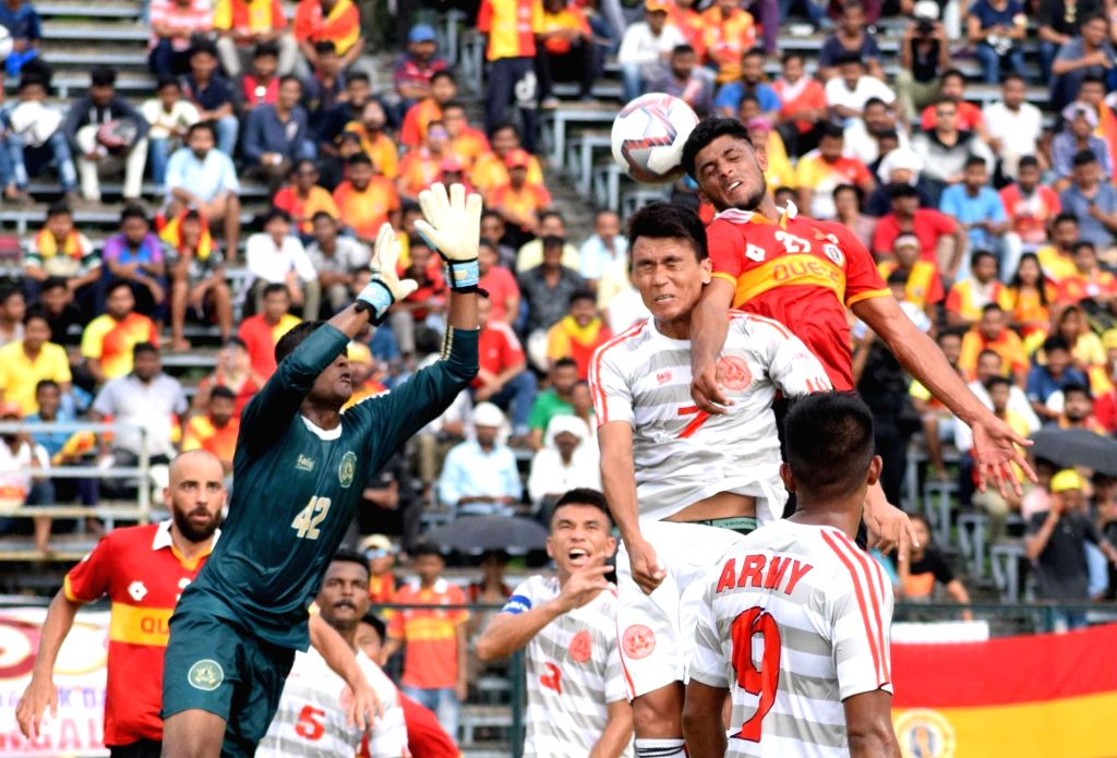 Players in action during a Durand Cup match between Mohun Bagan and Army Red at Salt Lake Stadium in Kolkata on Aug 3, 2019.
