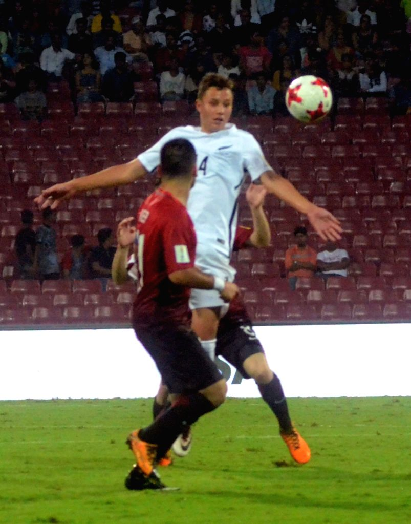 Players in action during a FIFA U-17 World Cup 2017 Group B match between New Zealand and Turkey in Mumbai, on Oct 6, 2017.