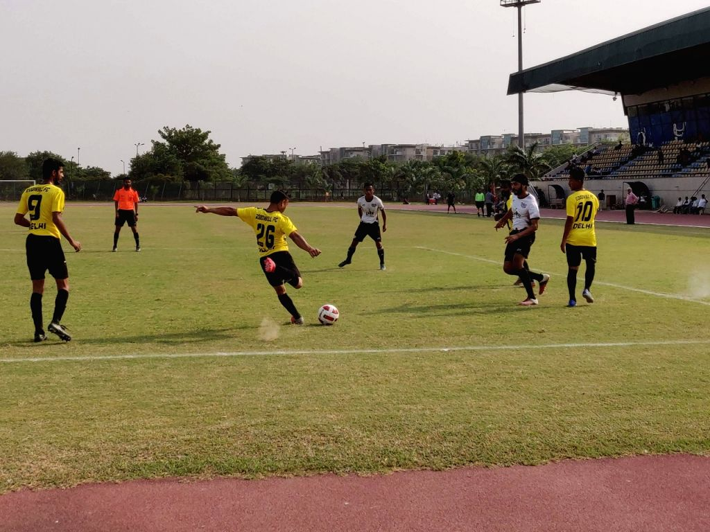 Players in action during Football Delhi's A Division League last season.