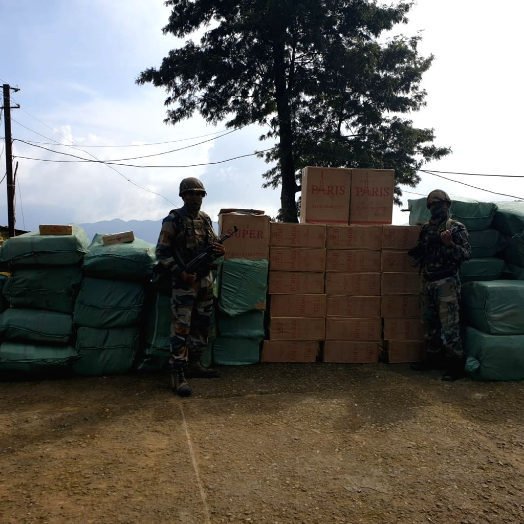 Please use the pic with the story... Foreign cigarettes worth Rs 1 Cr seized in Mizoram