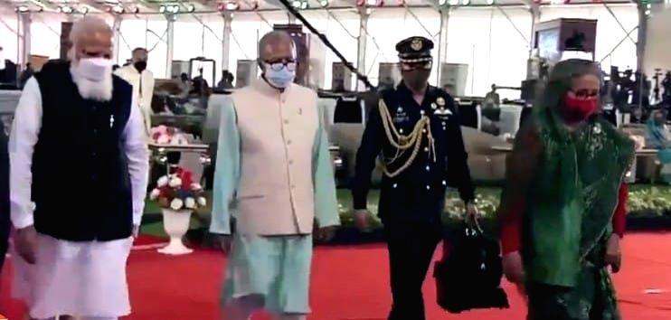 PM Modi made us glorified with his presence during pandemic: Hasina.