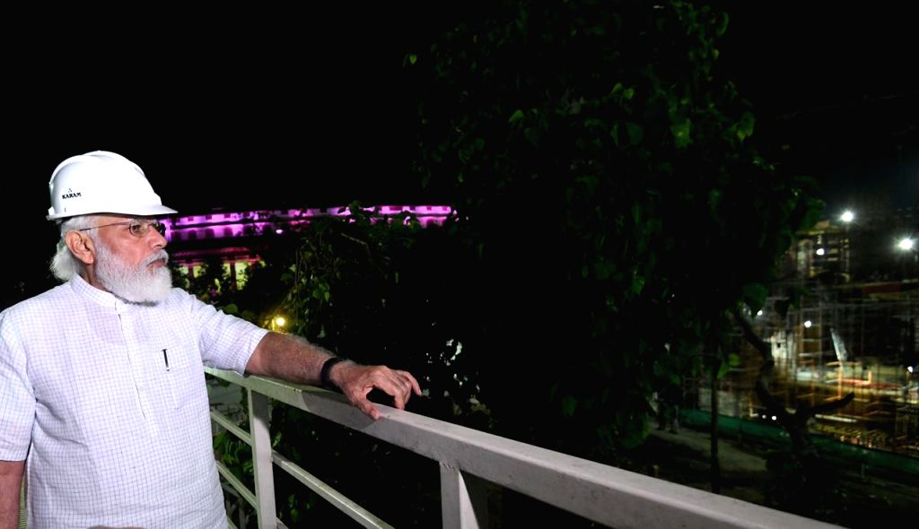 PM Modi visits construction site of new Parliament house