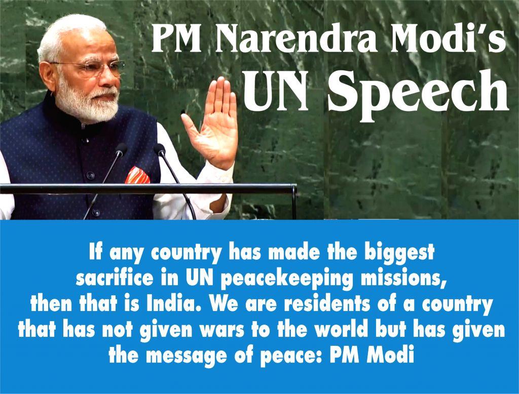 PM Narendra Modi's UN Speech. - Narendra Modi