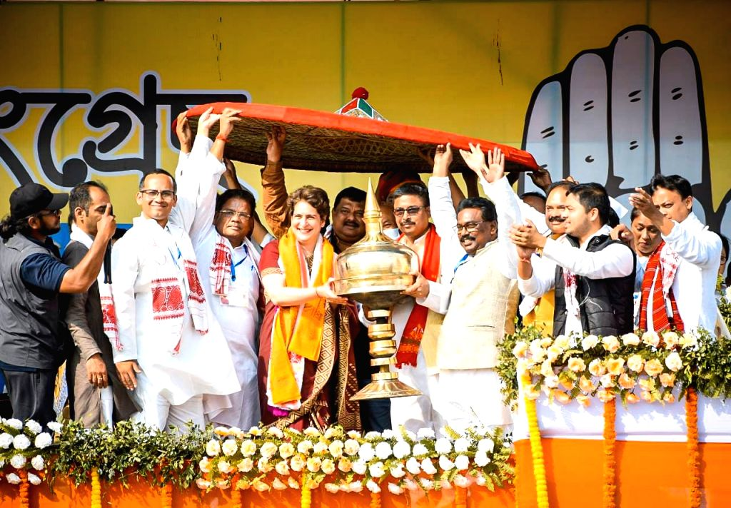 PM not talked with farmers in Delhi, how he will be aware for Assam problems : Priyanka