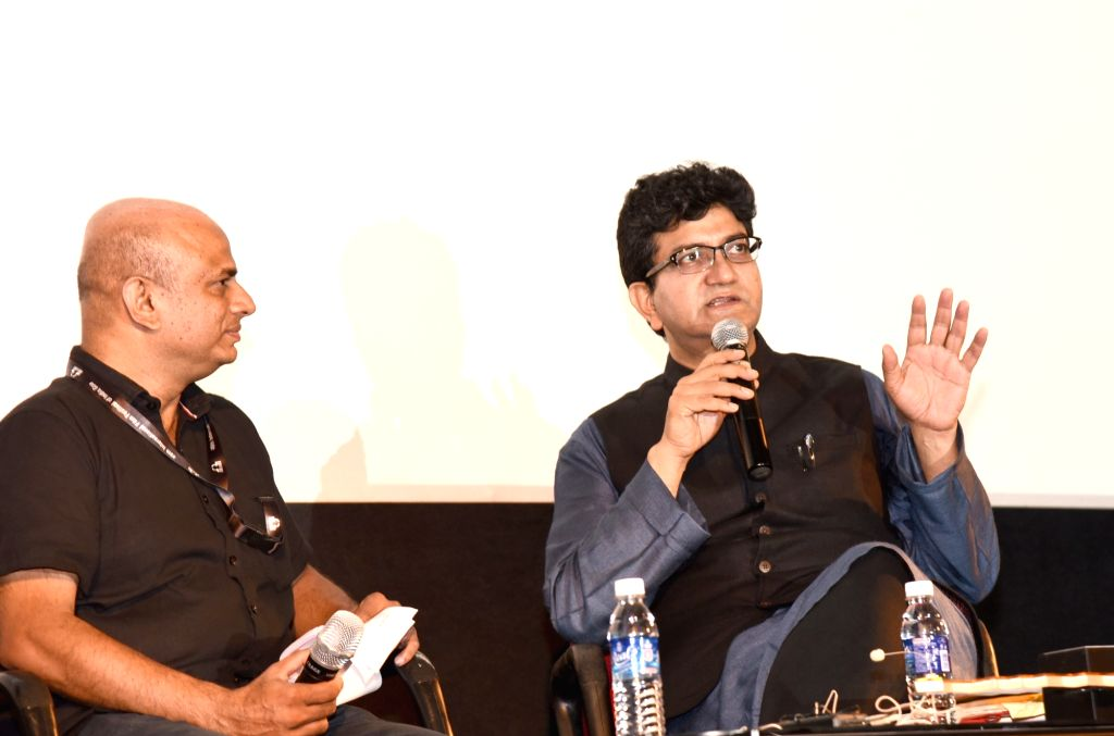 "Poet-Songwriter and Screenwriter Prasoon Joshi addresses at the Masterclass on ""Lyrical Imagination Unleashed"" during the 49th International Film Festival of India (IFFI-2018) in Panaji, ... - Prasoon Joshi"