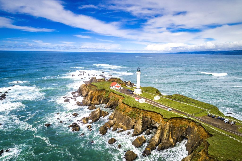 Point Arena Lighthouse and Stornetta Public Lands, Point Arena, California.