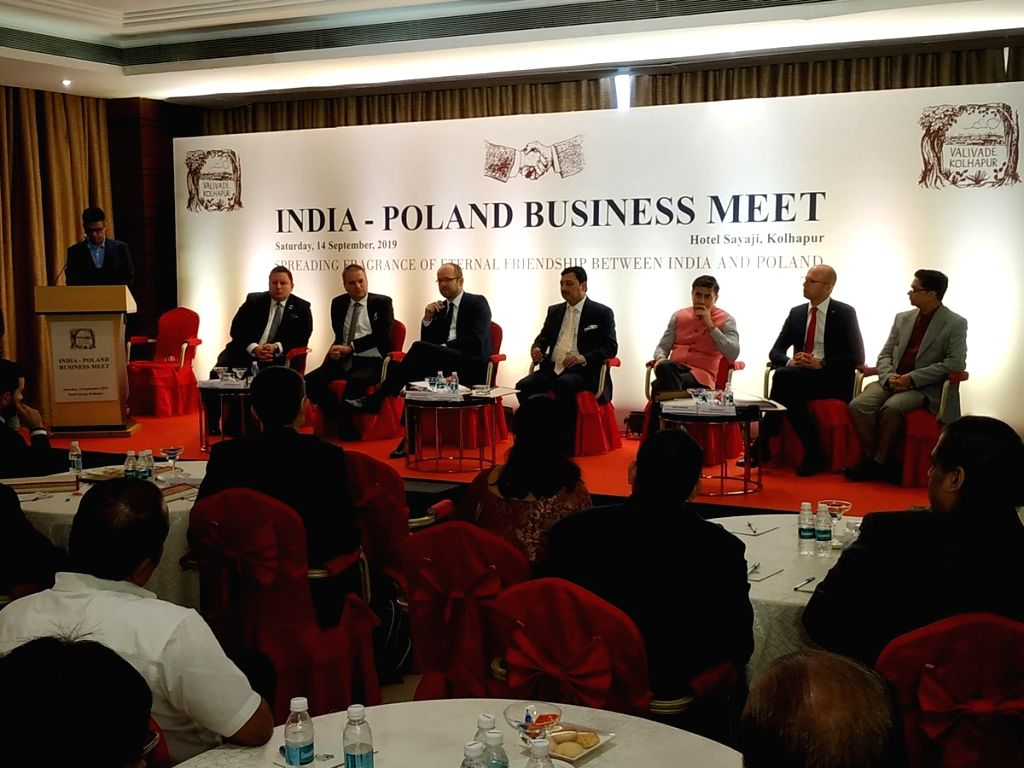 Poland???s Deputy Foreign Minister Marcin Przydac, LOT Polish Airlines CEO Rafal Milczarski and other dignitaries during India-Poland Business Meet in Kolhapur, Maharashtra on Sep 14, 2019. - Marcin Przydac