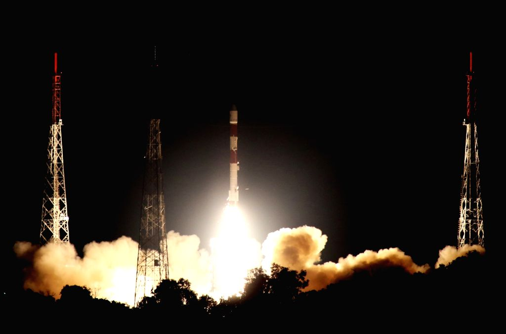 Polar Satellite Launch Vehicle (PSLV-C42) of Indian Space Research Organisation (ISRO) lifts off with two British satellites NovaSAR and S1-4 from the Satish Dhawan Space Centre (SDSC) ...