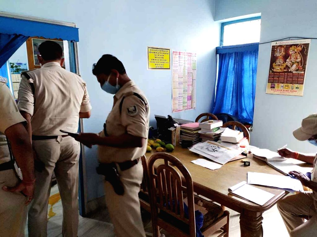 Police carries out investigation after a retired DSP, K Chandra committed suicide under Beur police station area in Patna on June 23, 2020.