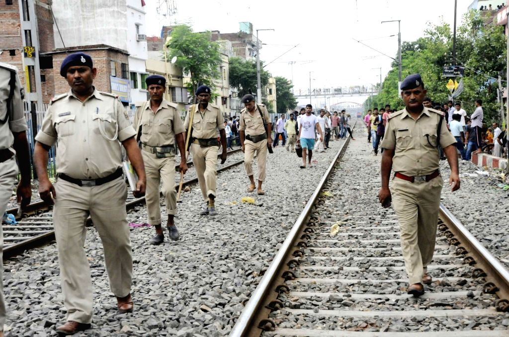 Police carry out investigations at the spot from where body of Deepak Kumar, son of JD(U) lawmaker Bima Bharti was recovered in Kankarbagh of Patna on July 3, 2018. - Deepak Kumar