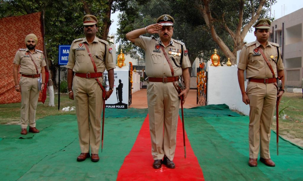 Police Commemoration Day celebrations underway in Amritsar on Oct 21, 2016.