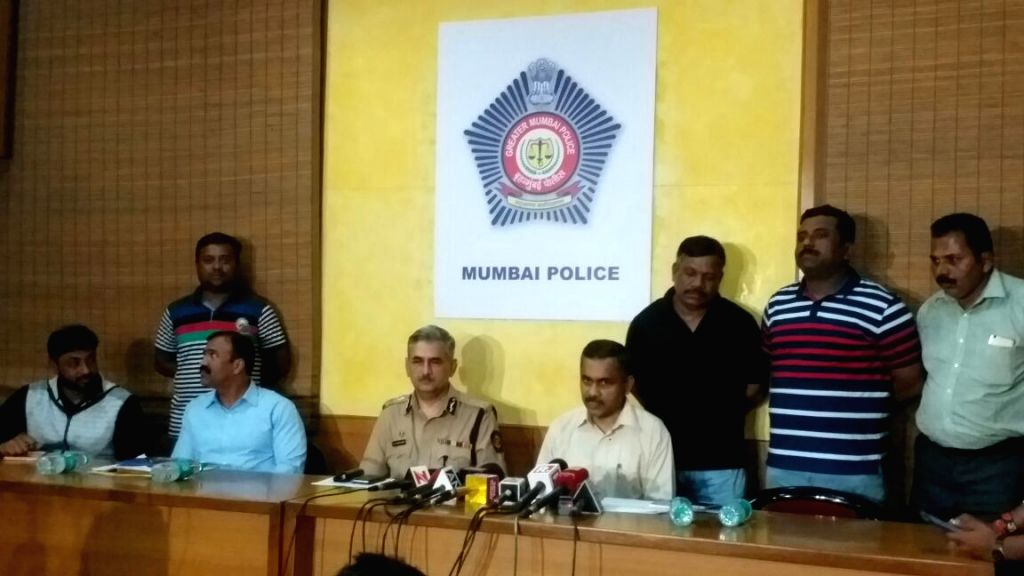 Police Commissioner Datta Padsalgikar addresses a press conference after Mumbai police traced and nabbed Sajjad Ahmed Abdulaziz Moghal alias Pathan, from a remote hideout in Jammu & ...