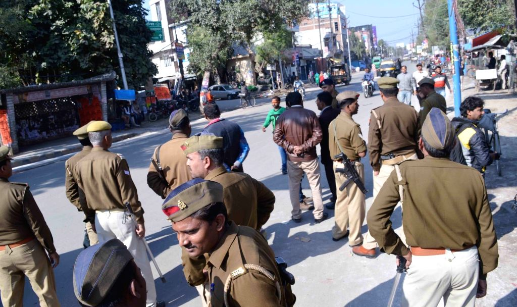 Police deployed after a Dalit law student was murdered; in Allahabad on Feb 14, 2018. After a scuffle over a trivial issue at an eatery last week, 26-year-old Dileep Saroj was brutally ...