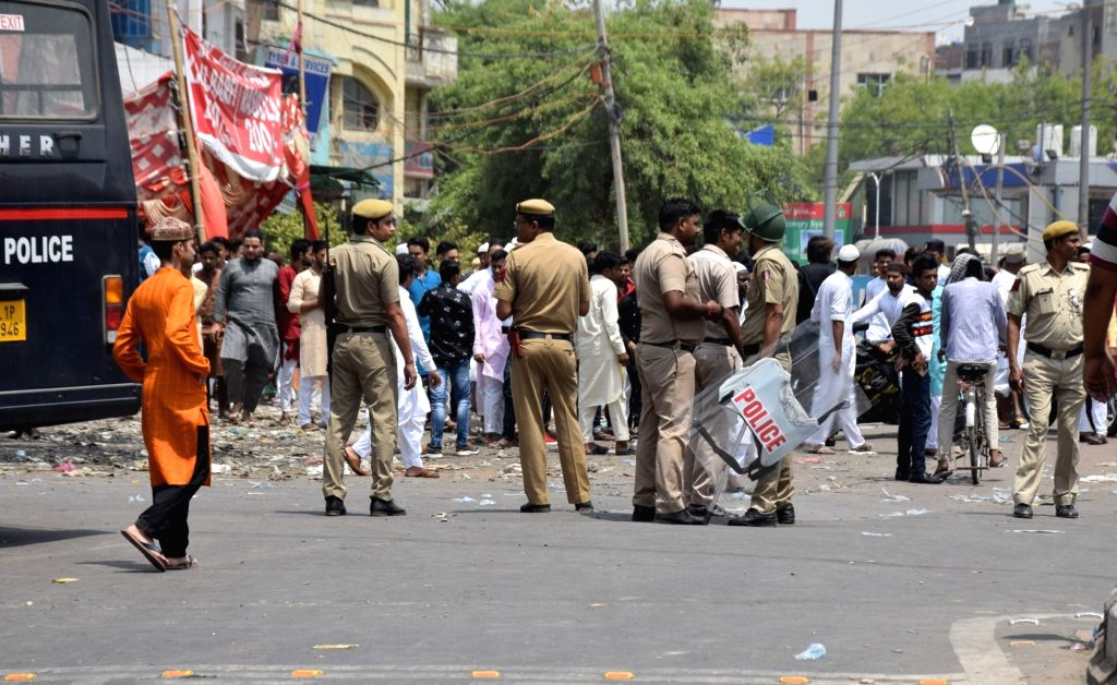 Police deployed after a motorist rammed his car into devotees emerging from a mosque in Delhi's Khureji area but police said no one was injured, denying their own earlier claim that many ...